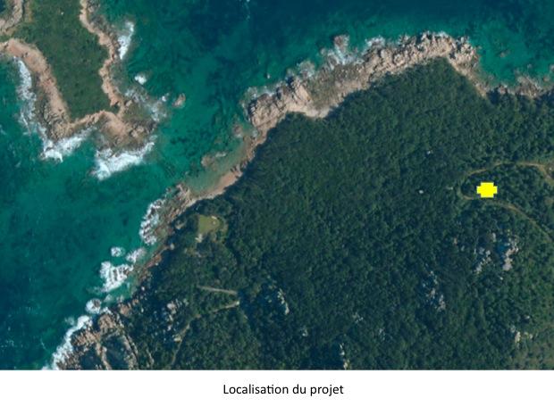 Diapositive vue aérienne localisation