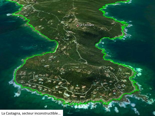 La Castagna en 2013, image Google Earth
