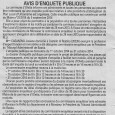 Abrogation du PLU. Du 1er octobre au 31 octobre 2014.