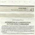Monticellu. Approbation du PLU. Le 20 octobre 2014.