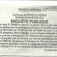 A Penta. Modification PLU. Du 17 novembre au 19 décembre 2014.