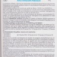 Oletta. Abrogation du PLU. Du 01 octobre au 31 octobre 2014.