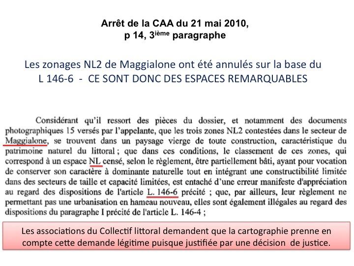 extrait jugement CAA Bonifacio maggialone