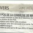 Marignana. Révision POS. Le 10 mars 2015.