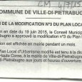 E Ville di Petrabugnu. Modification PLU. Le 4 juillet 2015.