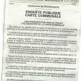 Pancheraccia. Elaboration carte communale. Du 30 octobre au 30 novembre 2015.