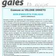 Velone-Orneto. Carte communale. Du 22 décembre au 26 janvier 2016.