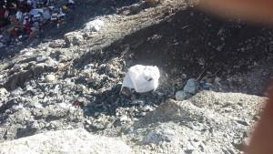 gros sac amiantifere contenant dechets divzers