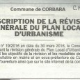 Corbara. Prescription PLU. Le 23 avreil 2016.