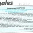 Cervioni. Modification Plu. Du 20 juin au 20 juillet 2016.