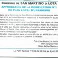 San Martino di Lota. Modification PLU. Le 11 avril 2016.