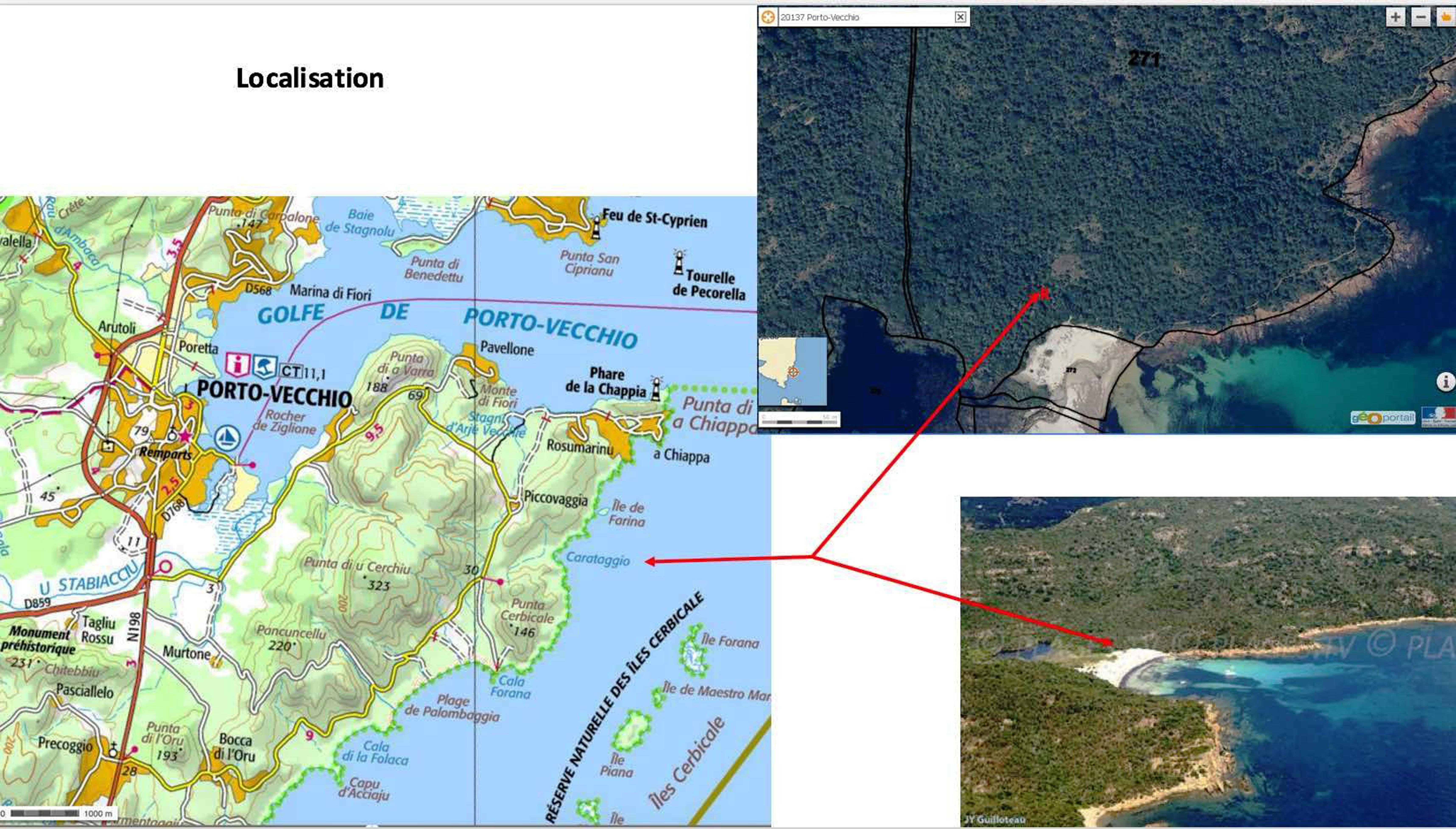 Carataghju3 carte localisation