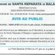 Santa Reparata di Balagna. Modification PLU. Le 3 juillet 2016.