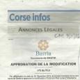Bastia. Modification PLU. Le 7 janvier 2016.