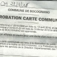 Bucugnà. Carte communale approuvée. Du 18 avril au 18 mai 2016.