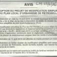 Petrosella. Modification PLU. Du 14 avril au 14 mai 2016.
