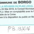 U Borgu. Révision PLU. Le 13 juin 2016.