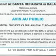 Santa Reparata di Balagna. Modification PLU. Le 3 juillet 2016.